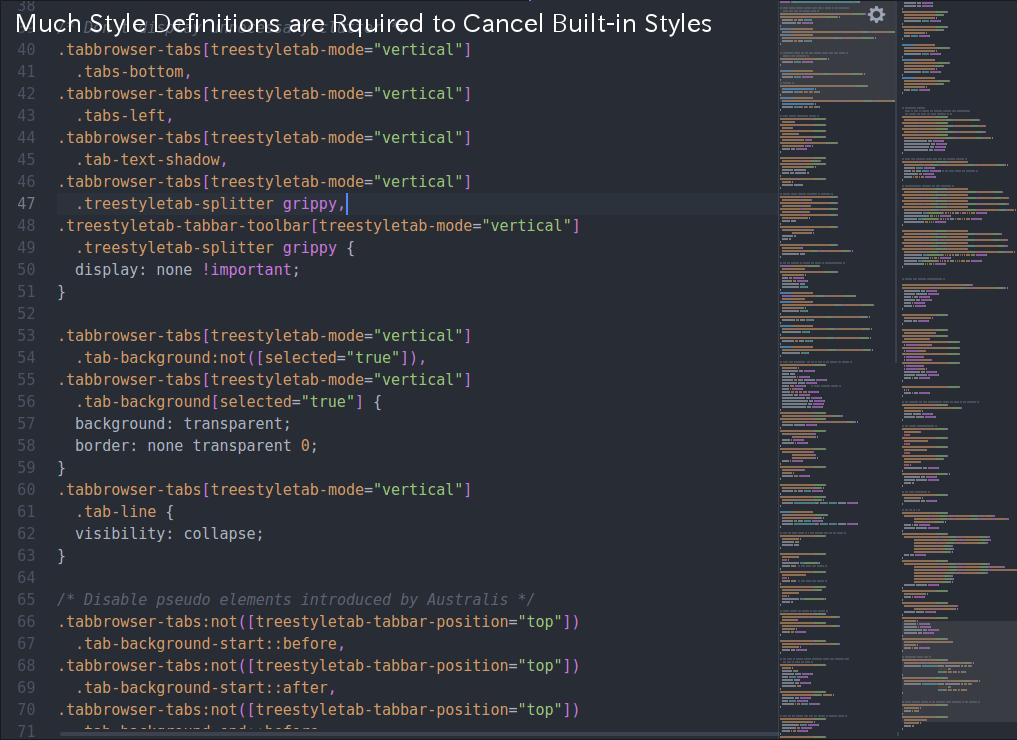 (Style rules of legacy TST: there are too many lines to cancel Firefox's builtin styles)