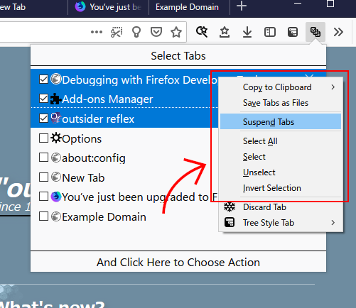 In this case there are top-level custom context menu items on your custom panel.